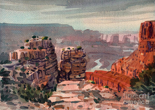 South Rim Poster featuring the painting South Rim by Donald Maier