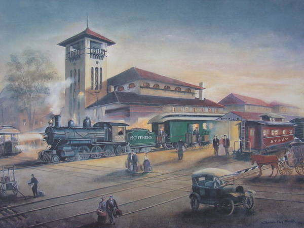 Charles Roy Smith Poster featuring the painting Southern Railway by Charles Roy Smith