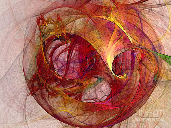 Abstract Poster featuring the digital art Space Demand Abstract Art by Karin Kuhlmann