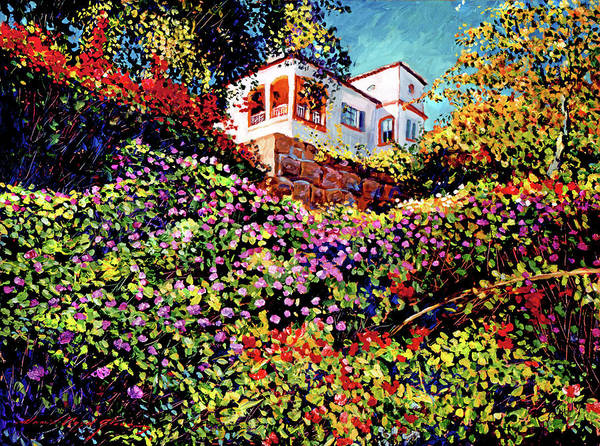 Gardens Poster featuring the painting Spanish House by David Lloyd Glover