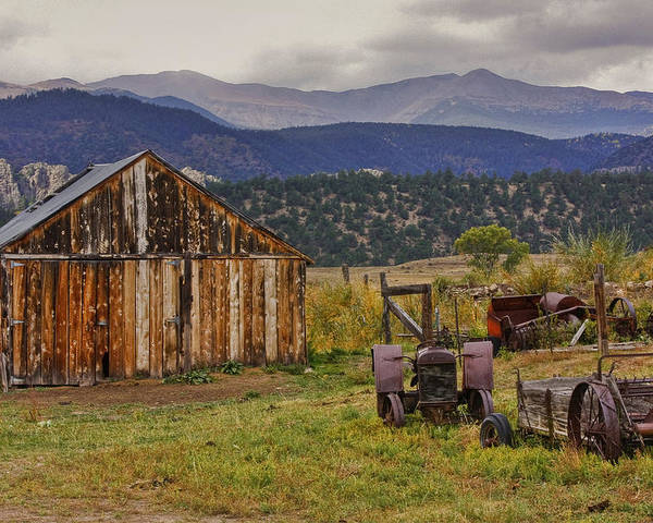 Black Mesa Poster featuring the photograph Spanish Peaks Ranch 2 by Charles Warren