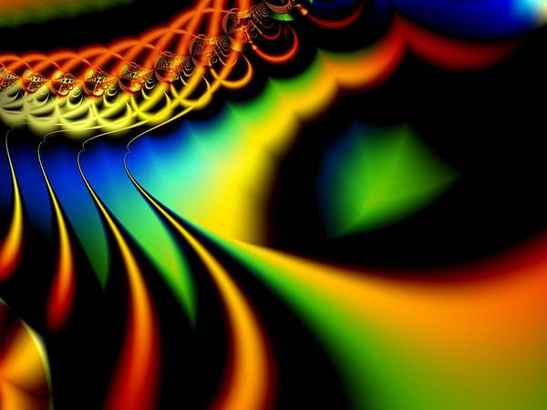 Spectrum Poster featuring the digital art Spectrum Path by Lauren Goia