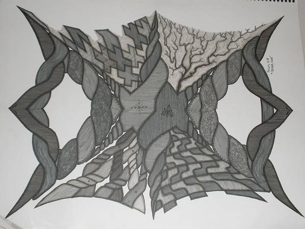 Abstract Poster featuring the painting Spiderweb by Scott King