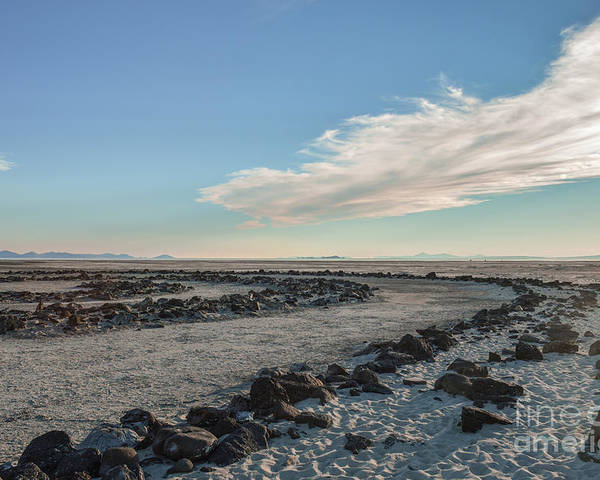 Spiral Jetty Poster featuring the photograph Spiral Jetty 2 by Ellen Nicole Allen