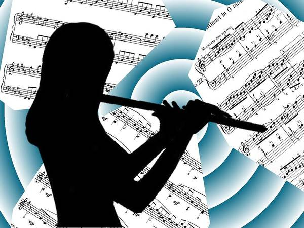 Music Poster featuring the digital art Spiral Music by Jennie Richards