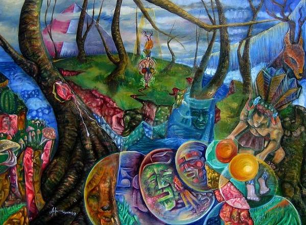 Paintings Poster featuring the painting Spirit Dance by Horacio Montes