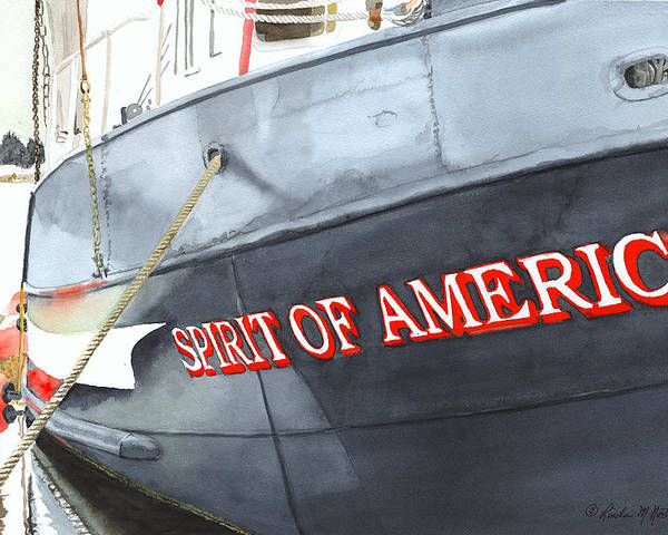 Fishing Boat Poster featuring the painting Spirit Of America by Norton Linda