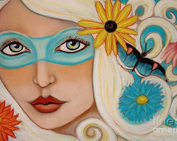 Fairy Poster featuring the painting Spirit Of The South Wind by Tammy Mae Moon