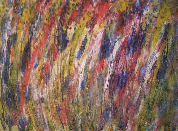 Abstract Poster featuring the painting Spirits Rising by Don Phillips
