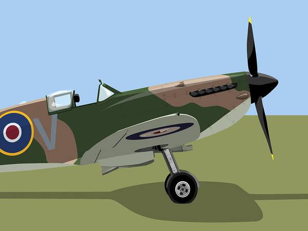 Spitfire Poster featuring the digital art Spitfire Ww2 Fighter by Michael Tompsett