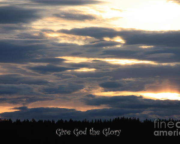 Spokane Poster featuring the photograph Spokane Sunset - Give God The Glory by Carol Groenen
