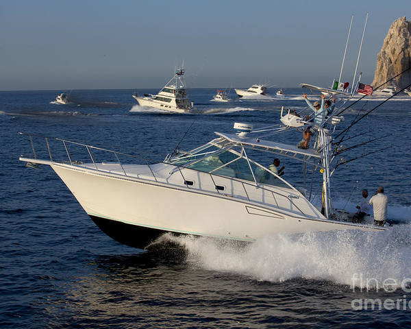 Fishing Poster featuring the photograph Sportfishing Boats - Cabo San Lucas by Anthony Totah