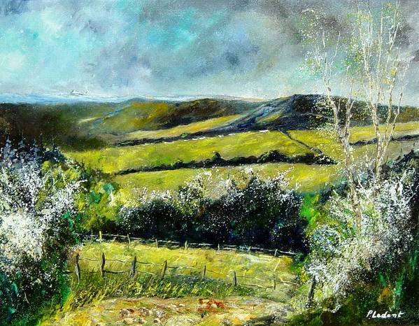 Landscape Poster featuring the print Spring 79 by Pol Ledent