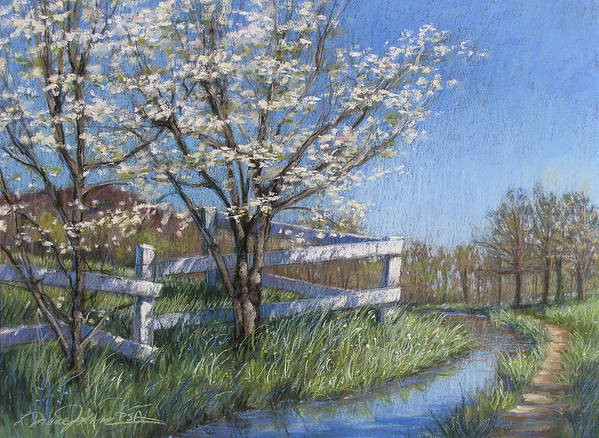 Pastel Painting Poster featuring the painting Spring Fare by L Diane Johnson