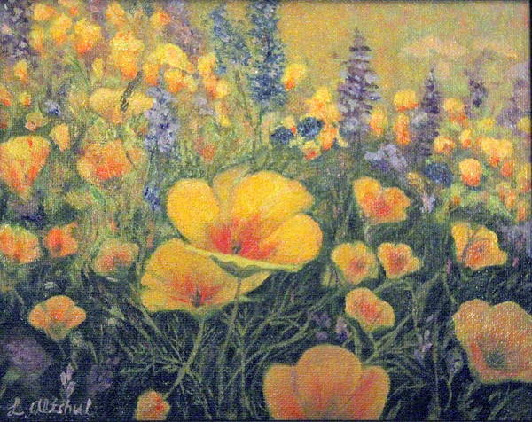 Poster featuring the painting Spring Field Of Flowers by Larisa Altshul