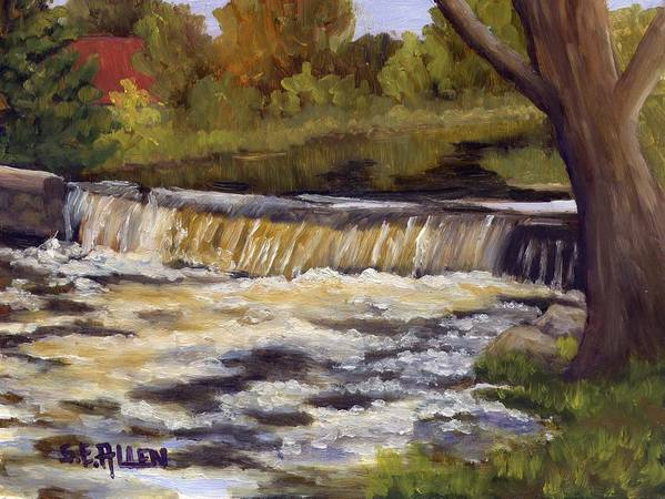 Water Poster featuring the painting Spring Flow by Sharon E Allen
