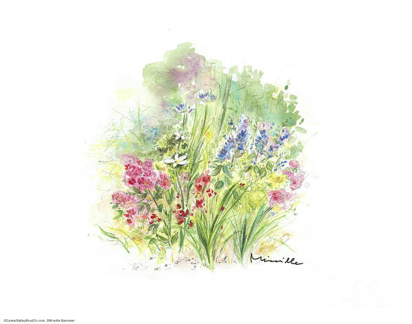 Spring In My Garden Poster featuring the painting Spring In My Garden by Mireille Barmenn