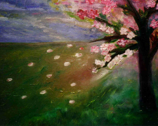 Maria Kolucheva Poster featuring the painting Spring by Maria Kolucheva
