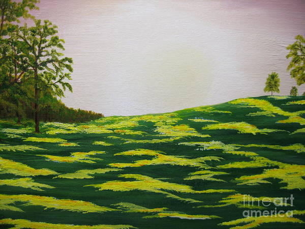 Trees Poster featuring the painting Spring Morning by Todd Androy
