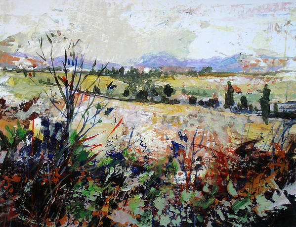 Landscape Poster featuring the painting Spring Rain by Dale Witherow