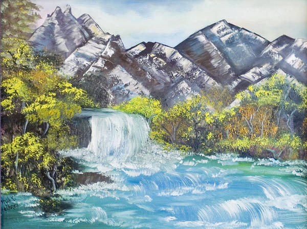 Oil Poster featuring the painting Spring Thaw by Mikki Alhart
