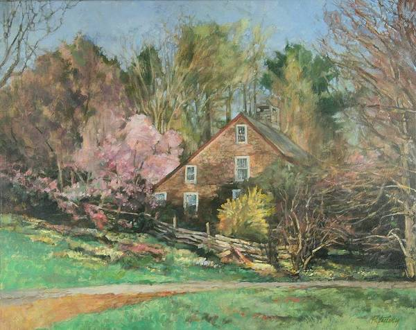 Spring Poster featuring the painting Springtime On Longhill by Robert Tutsky