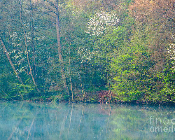 Bavaria Poster featuring the photograph Springtime Reflection by Alexander Kunz