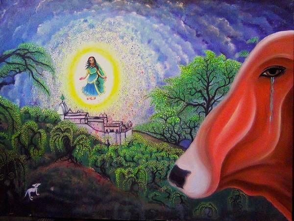 Poster featuring the painting Sri Barsana Vali by Padmananda