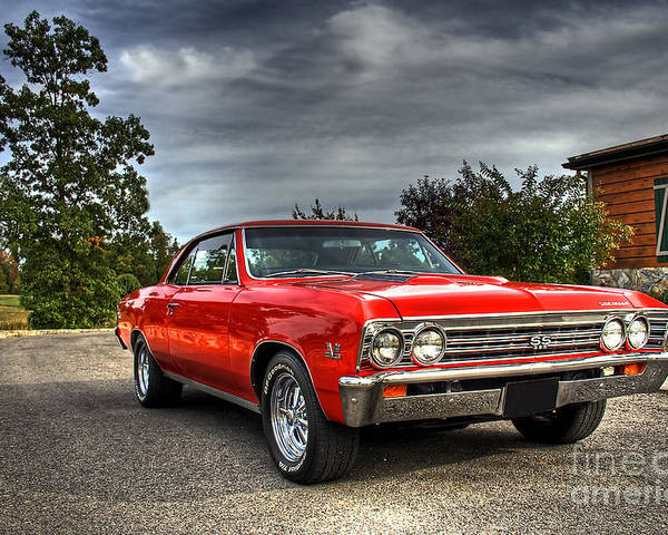 Ss 396 Poster featuring the photograph Ss 396 Chevelle by Tim Wilson