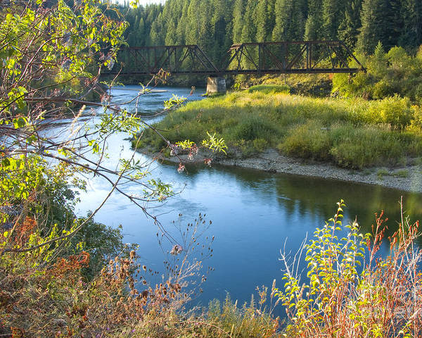Idaho Poster featuring the photograph St. Joe River by Idaho Scenic Images Linda Lantzy