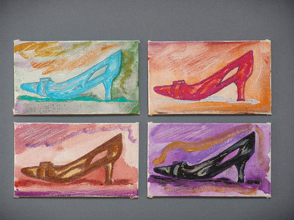 Shoes Poster featuring the painting St Johns 5th Avenue by Kevin Callahan