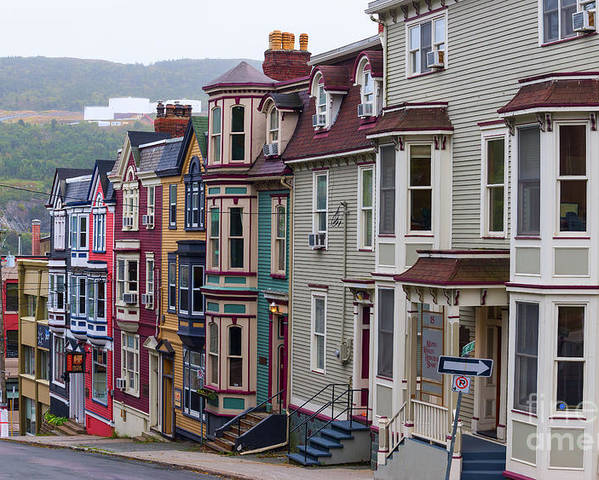 Colors Poster featuring the photograph St Johns In Newfoundland by Les Palenik