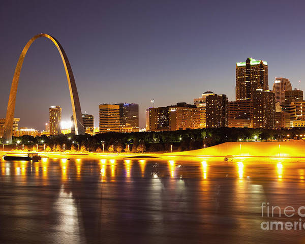 Arch Poster featuring the photograph St Louis Skyline by Bryan Mullennix