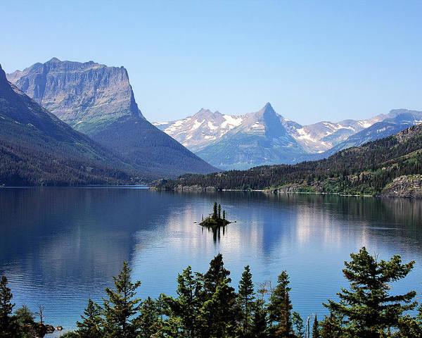 St Mary Lake Poster featuring the photograph St Mary Lake - Glacier National Park Mt by Christine Till