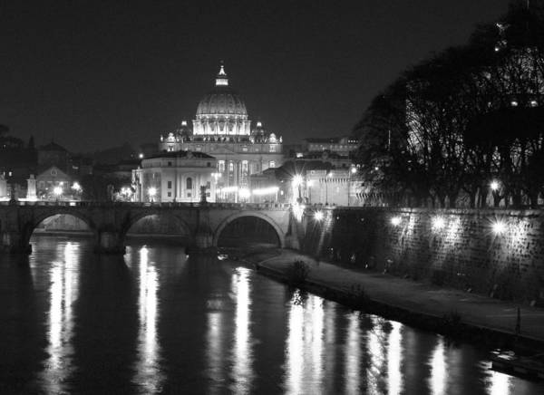 Italy Poster featuring the photograph St. Peters At Night by Donna Corless