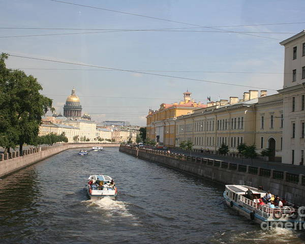 Canal Poster featuring the photograph St. Petersburg Canal - Russia by Christiane Schulze Art And Photography