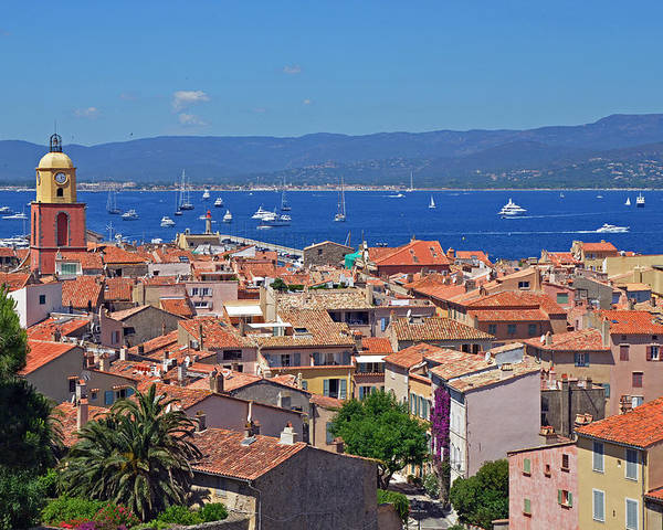 St Tropez Poster featuring the photograph St-tropez Skyline by Corinne Rhode