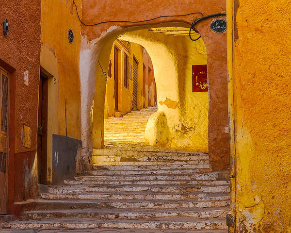 Algeria Poster featuring the photograph Stairway Inside Beni Isguen by Judith Barath