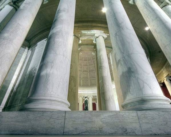 Jefferson Memorial Poster featuring the photograph Stand Like A Rock by Mitch Cat