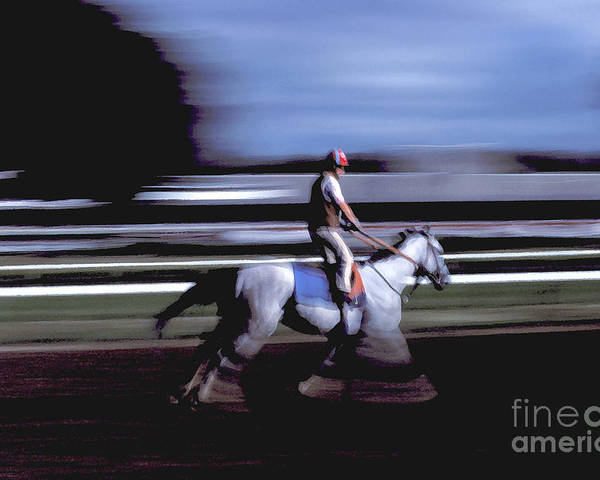 Racetrack Poster featuring the photograph Stand Up by Marc Bittan