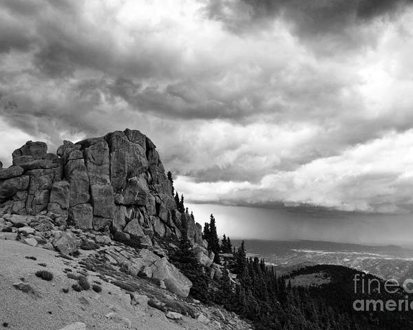 Mountain Poster featuring the photograph Standing Against The Storm by Scott Pellegrin