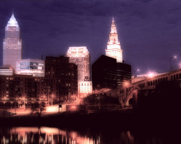 Cleveland Poster featuring the photograph Standing Tall by Kenneth Krolikowski