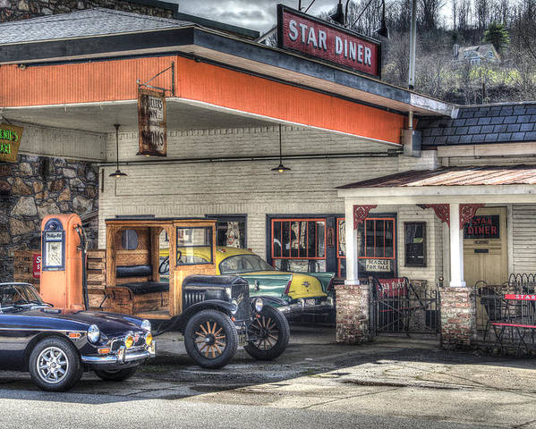 Car Poster featuring the photograph Star Diner by Mark Smith