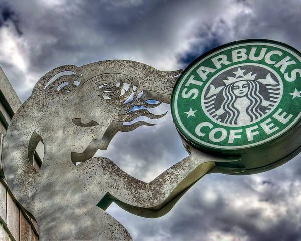 Seattle Poster featuring the photograph Starbucks Coffee by Spencer McDonald