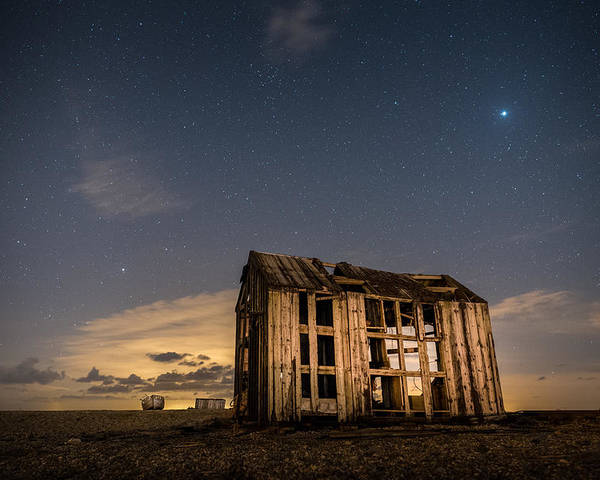 Dungeness Poster featuring the photograph Starry Night At Dungeness by David Attenborough