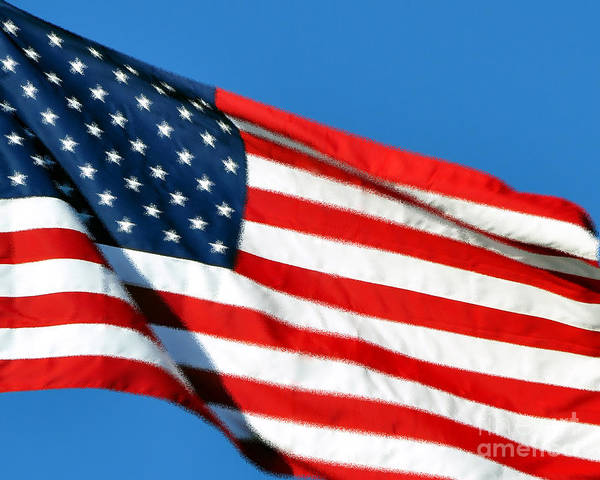 Flag Poster featuring the photograph Stars And Stripes by Al Powell Photography USA