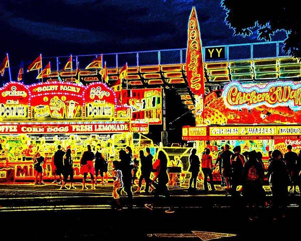 State Fair Poster featuring the photograph State Fair Refreshments by Bill Ardern