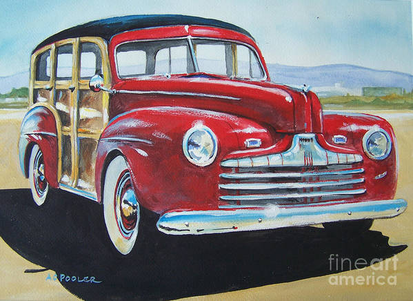 Ccaa Poster featuring the painting Station Wagon by Anthony Pooler
