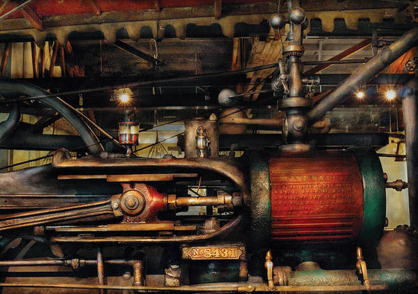 Savad Poster featuring the photograph Steampunk - No 8431 by Mike Savad