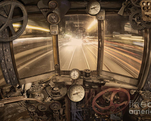 Steampunk Poster featuring the photograph Steampunk Time Machine by Keith Kapple